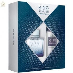Conjunto King of Seduction Antonio Banderas Masculino - Eau de Toilette 100ml + Desodorante 150ml