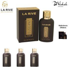Combo 03 Perfumes - La Rive Elegant Man Eau de Toilette - Perfume Masculino 90ml
