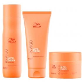 Kit Wella Professionals Invigo Nutri-Enrich Trio Shampoo 250ml + Condicionador 200ml + Máscara 150ml