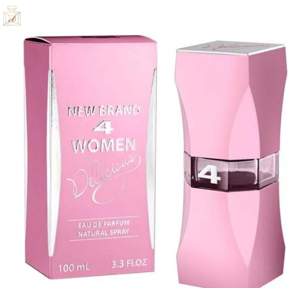 4 Women Delicious - Eau de Parfum New Brand - Perfume Feminino 100ml