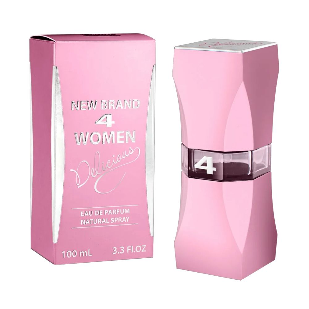 4 Women Delicious - Eau de Parfum New Brand - Perfume Feminino 100ml