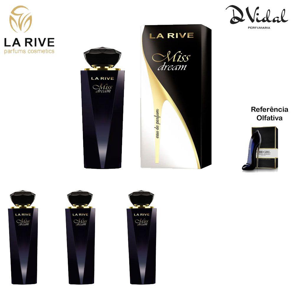 Combo 03 Perfumes - Miss Dream La Rive Eau de Parfum - Perfume Feminino 100ml