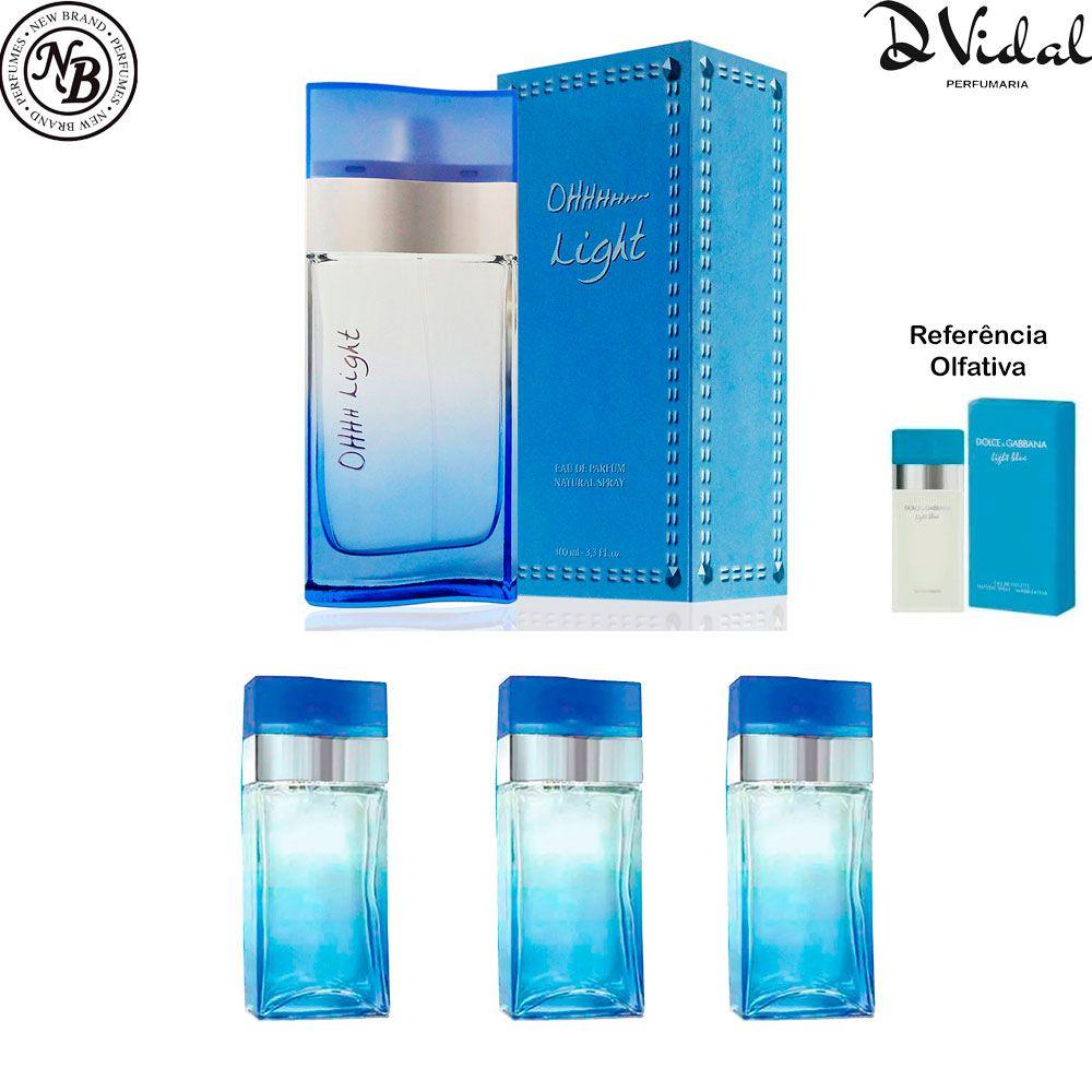Combo 03 Perfumes - Oh Light Eau de Parfum New Brand - Perfume Feminino 100ml