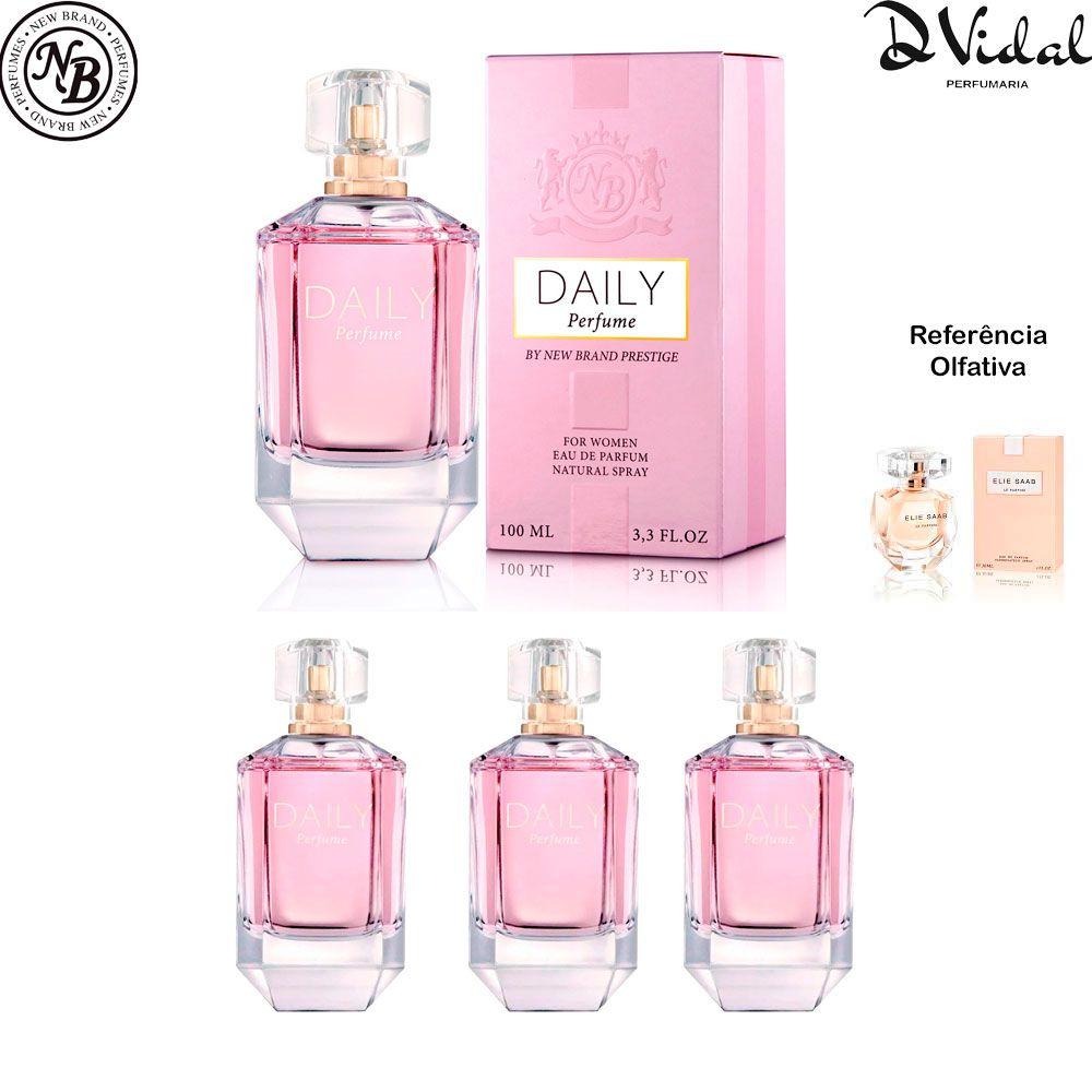 Combo 03 Perfumes - Prestige Daily Eau de Parfum New Brand - Perfume Feminino 100ml