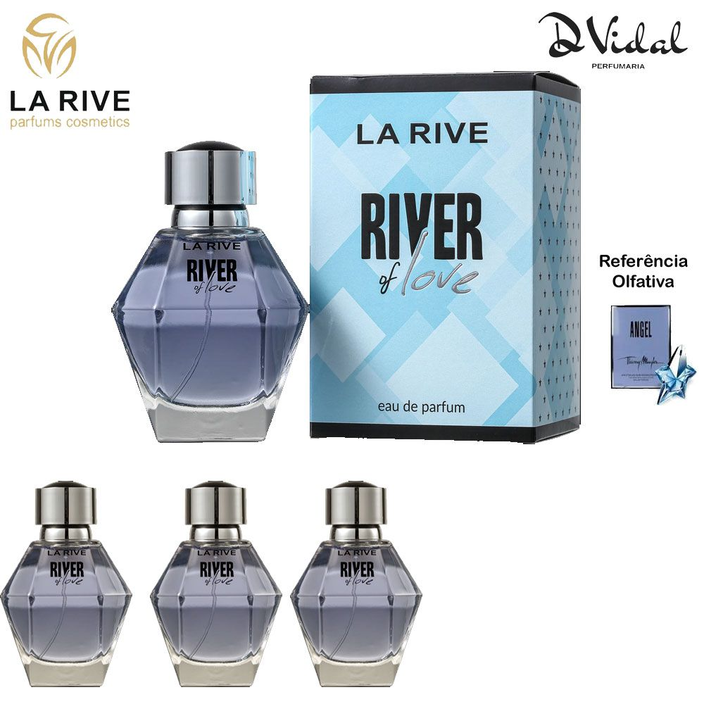 Combo 03 Perfumes - River Of Love La Rive Eau de Parfum - PerfumFeminino 100ml