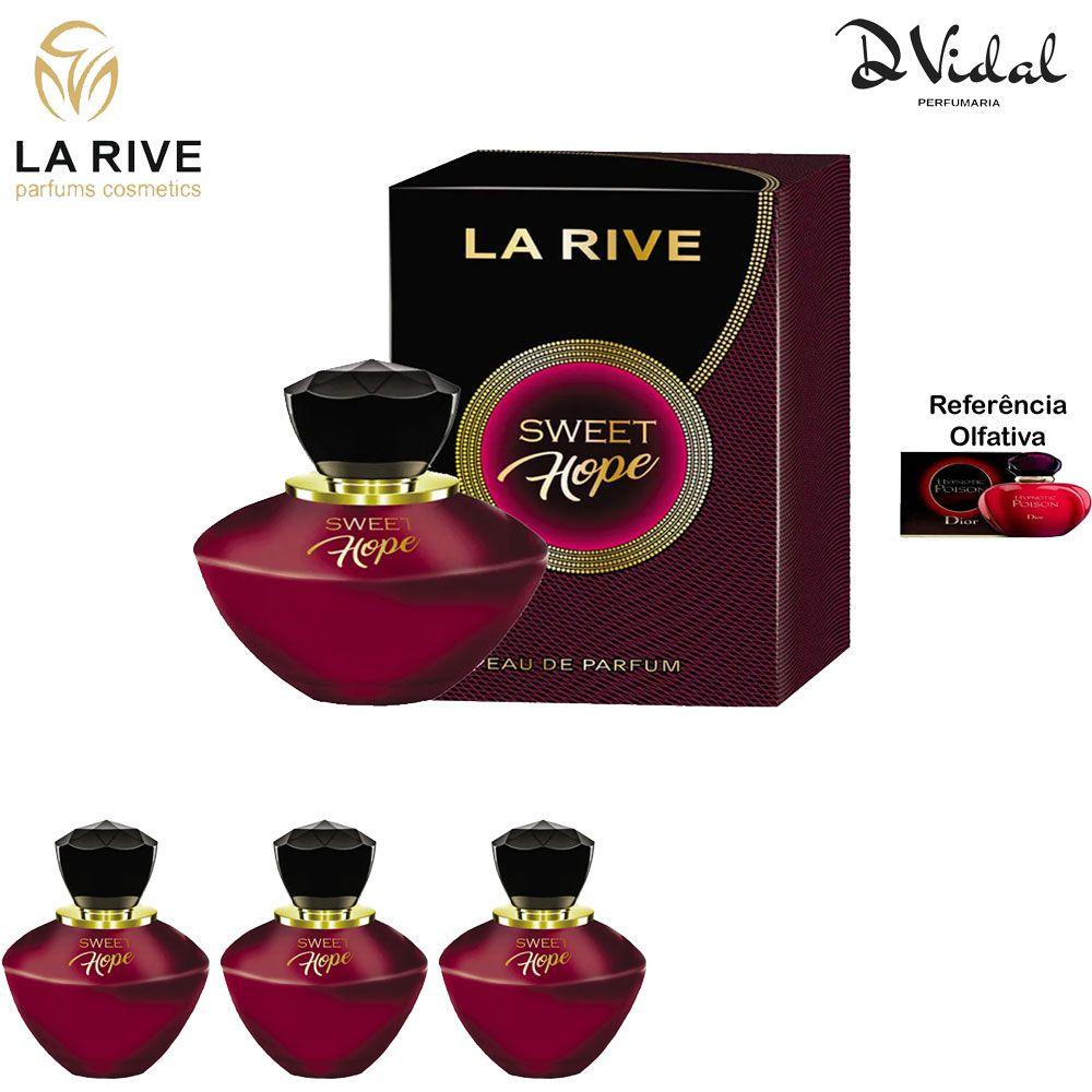 Combo 03 Perfumes - Sweet Hope La Rive Eau de Parfum - Perfume Feminino 90ml