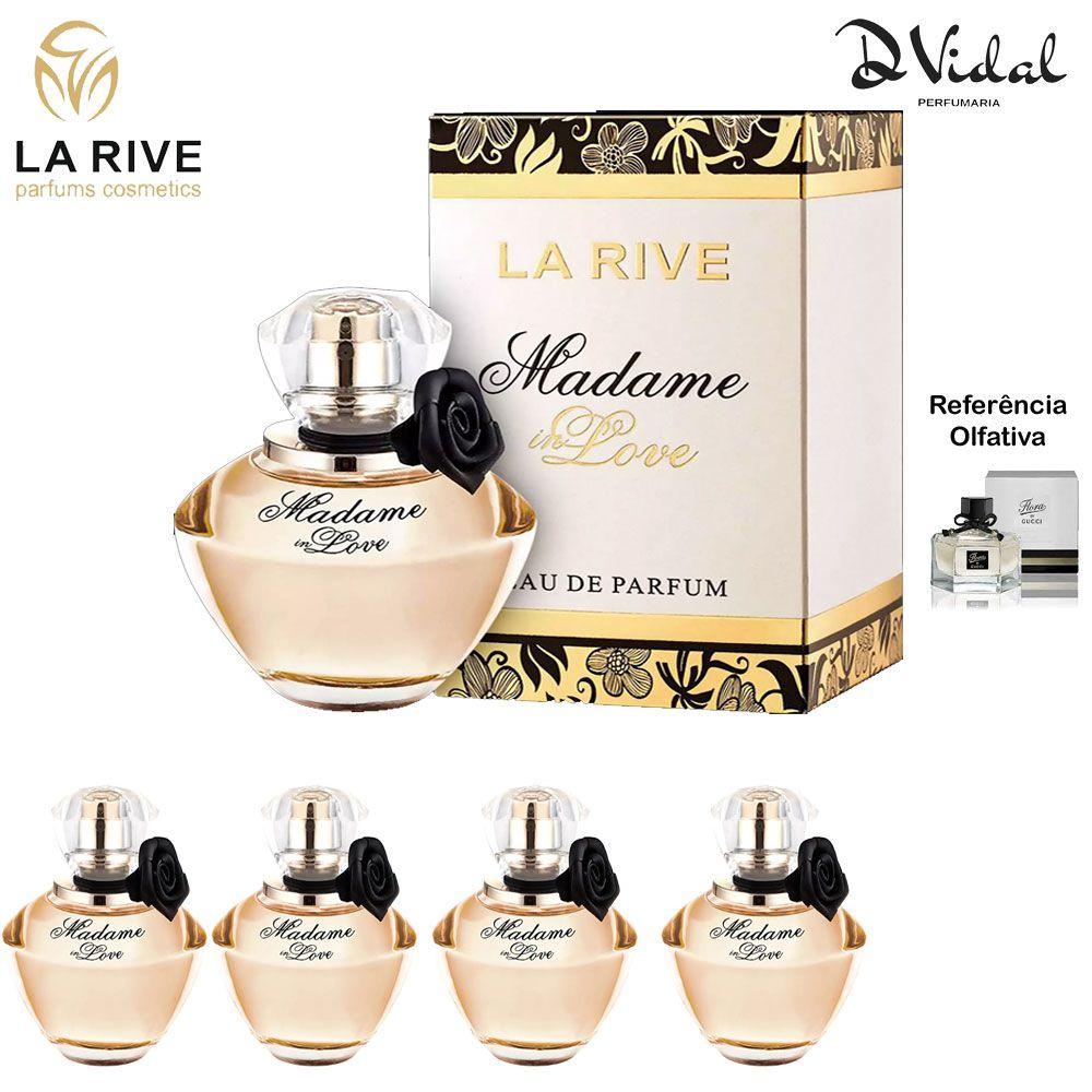 Combo 04 Perfumes - Madame In Love La Rive Eau de Parfum - Perfume Feminino 90ml