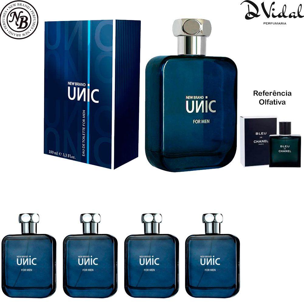 Combo 04 Perfume - Unic Eau de Toilette New Brand - Perfume Masculino 100ml
