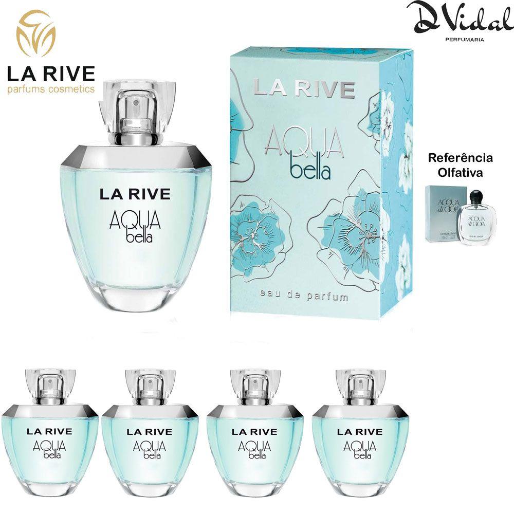 Combo 04 Perfumes - Aqua Bella La Rive Eau de Parfum - Perfume Feminino 100ml