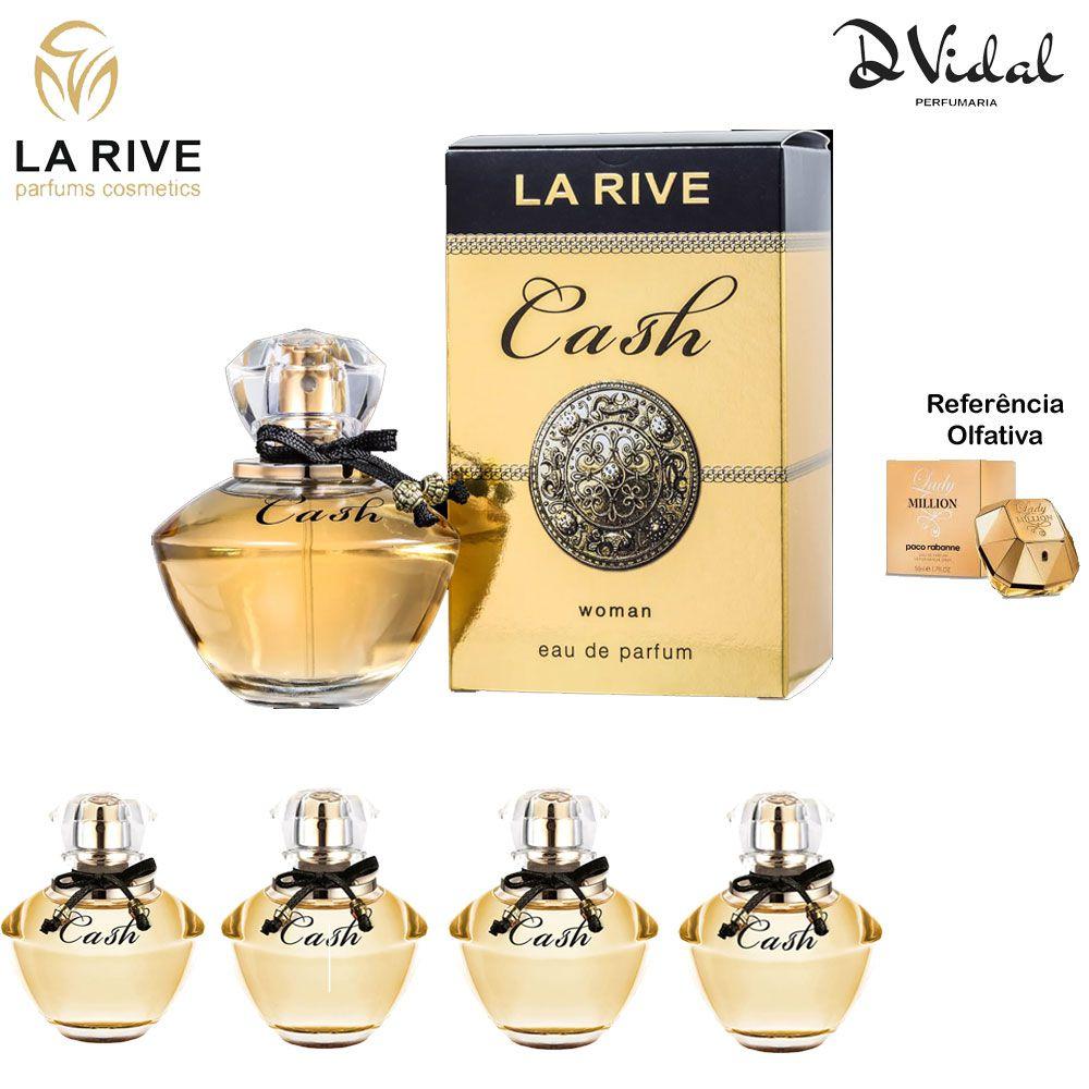Combo 04 Perfumes - Cash Woman La Rive Eau de Parfum - Perfume Feminino 90ml