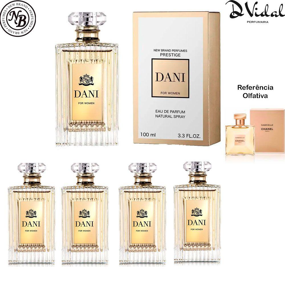Combo 04 Perfumes - Dani New Brand Prestige Eau De Parfum - Perfume Feminino 100ml