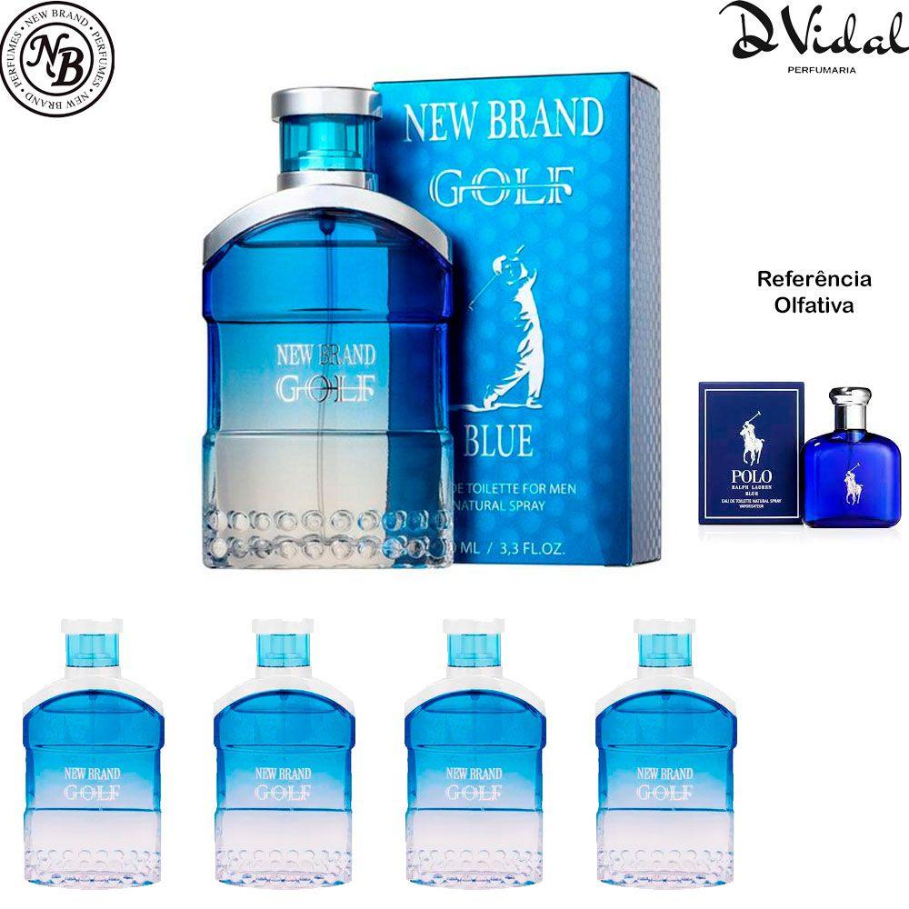 Combo 04 Perfumes - Golf Blue New Brand Eau de Toilette - Perfume Masculino 100ml