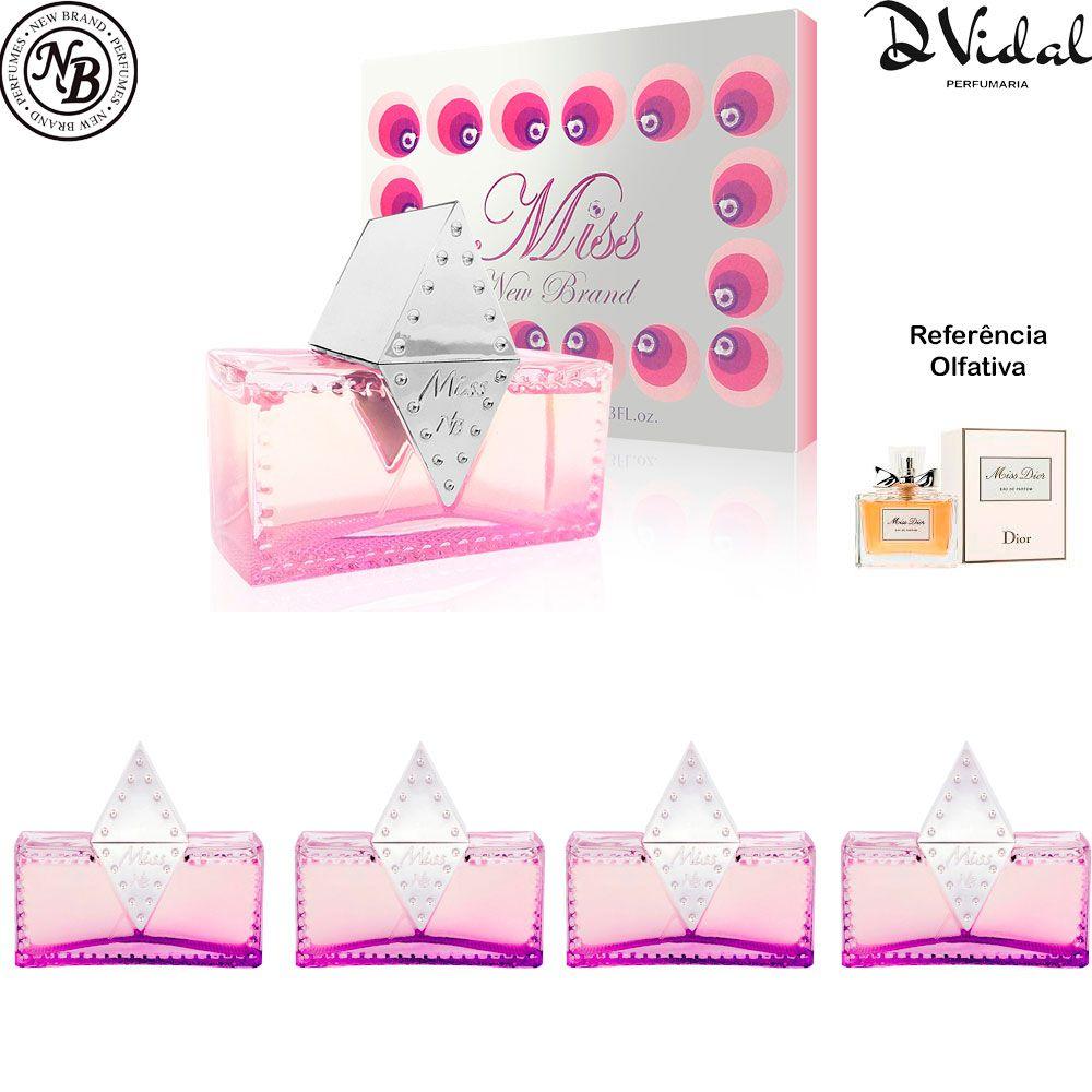 Combo 04 Perfumes - Miss For Women Eau de Parfum New Brand - Perfume Feminino