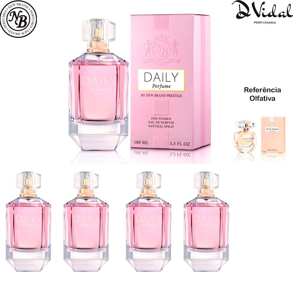 Combo 04 Perfumes - Prestige Daily Eau de Parfum New Brand - Perfume Feminino 100ml