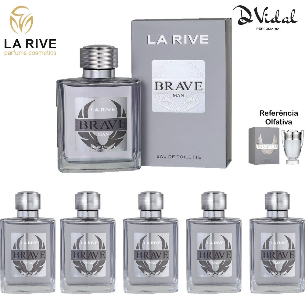 Combo 05 Perfumes - Brave La Rive Eau de Toilette - Perfume Masculino 100ml