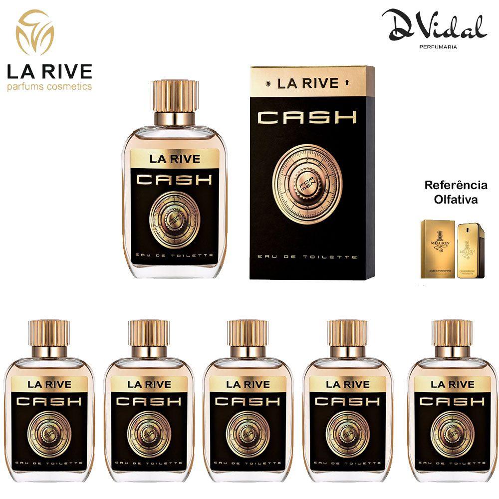 Combo 05 Perfumes - Cash La Rive Eau de Toilette - Perfume Masculino 100ml