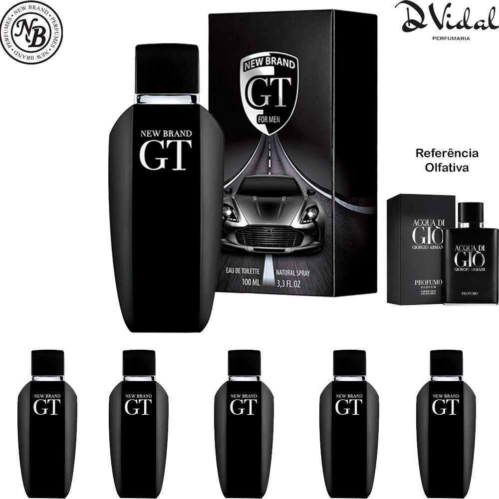 Combo 05 Perfumes - GT Eau de Toilette New Brand - Perfume Masculino 100ml