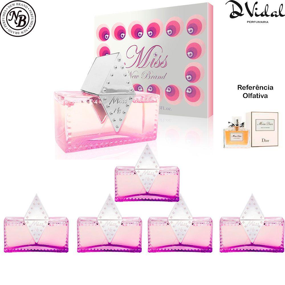 Combo 05 Perfumes - Miss For Women Eau de Parfum New Brand - Perfume Feminino
