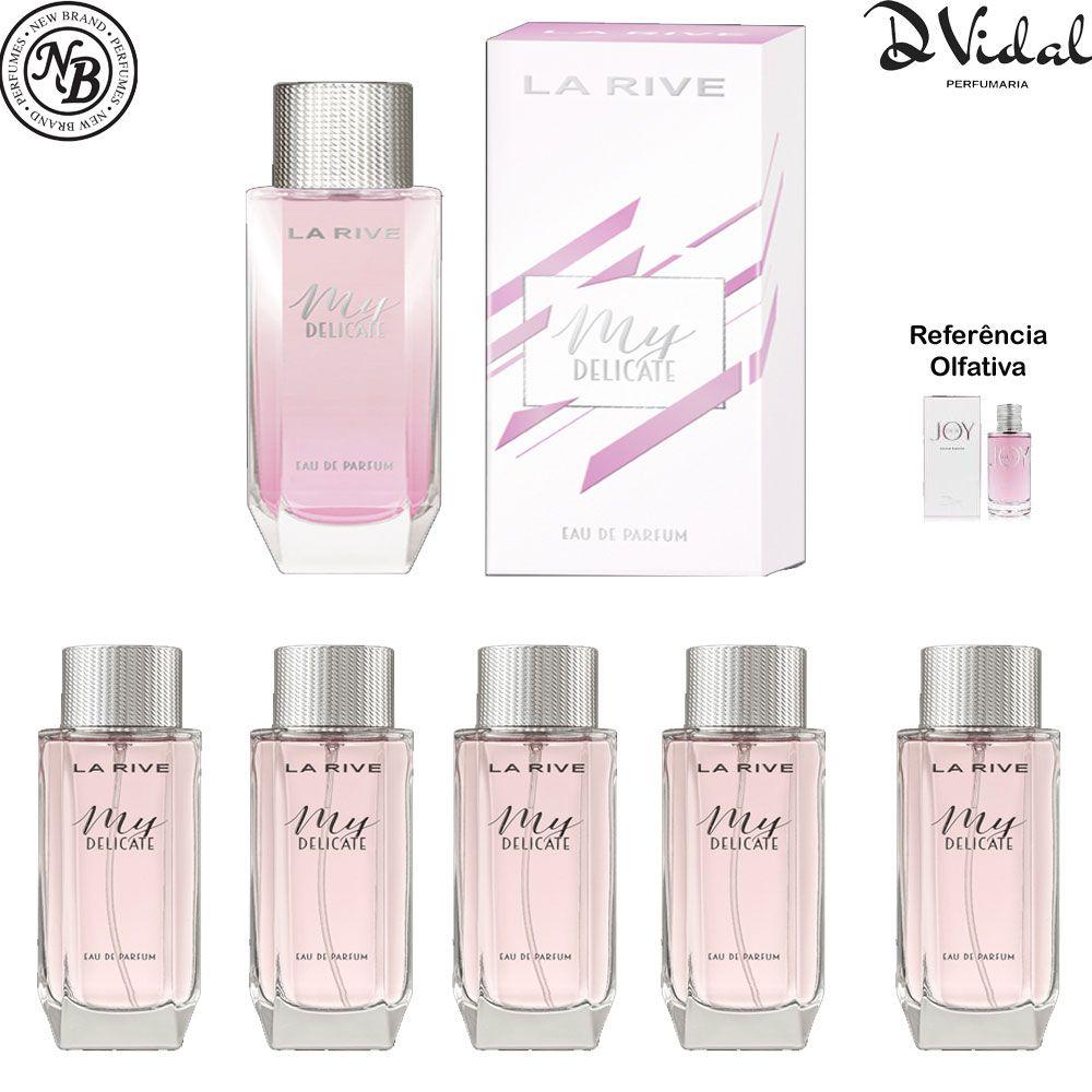 Combo 05 Perfumes - My Delicate Eau De Parfum La Rive - Perfume Feminino 90ml