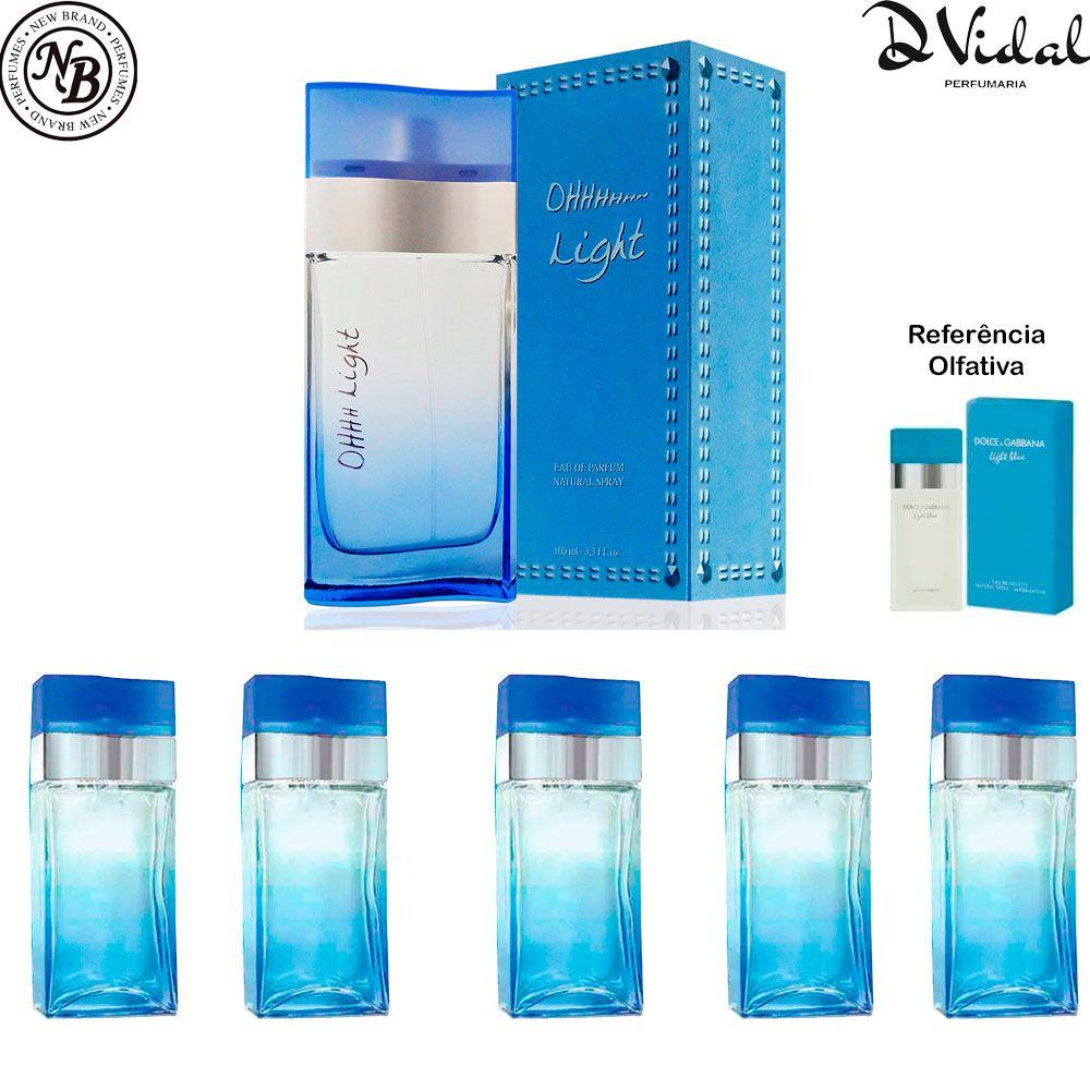 Combo 05 Perfumes - Oh Light Eau de Parfum New Brand - Perfume Feminino 100ml