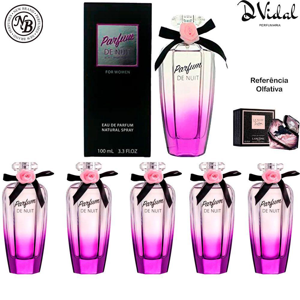 Combo 05 Perfumes - Parfum de Nuit New Brand Eau de Parfum - Perfume Feminino 100ml