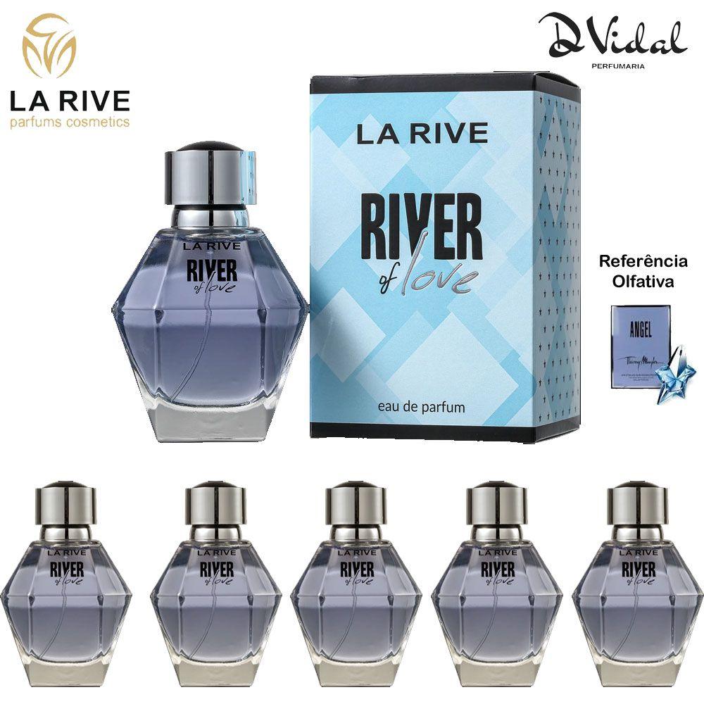 Combo 05 Perfumes - River Of Love La Rive Eau de Parfum - Perfume Feminino 100ml