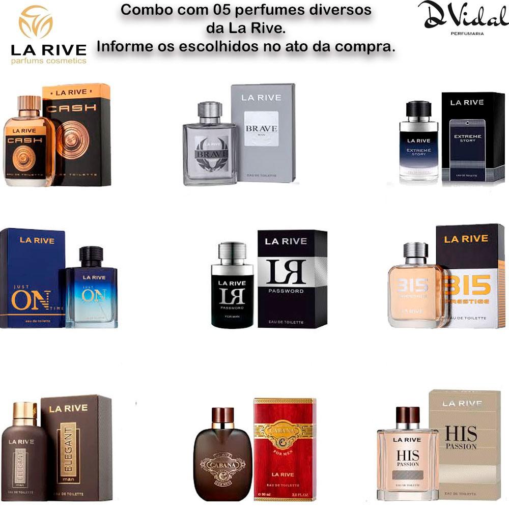 Combo Revenda 03 Perfumes La Rive Masculinos ou Femininos