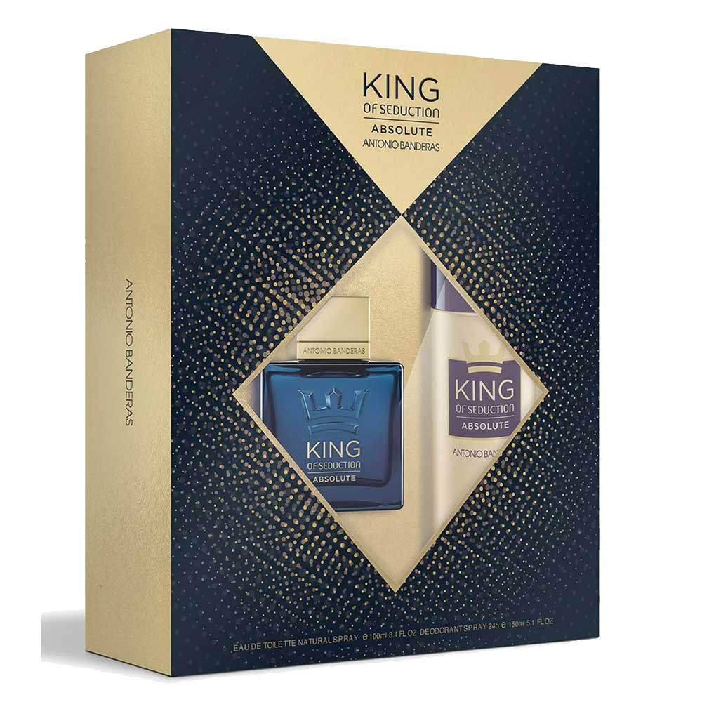 Conjunto King of Seduction Absolute Antonio Banderas Masculino - Eau de Toilette 100ml + Desodorante 150ml