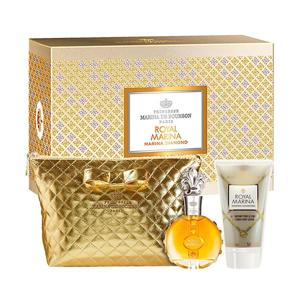 Conjunto Royal Marina Diamond Marina de Bourbon Feminino - Eau de Parfum 100ml + Loção + Necessair - Feminino