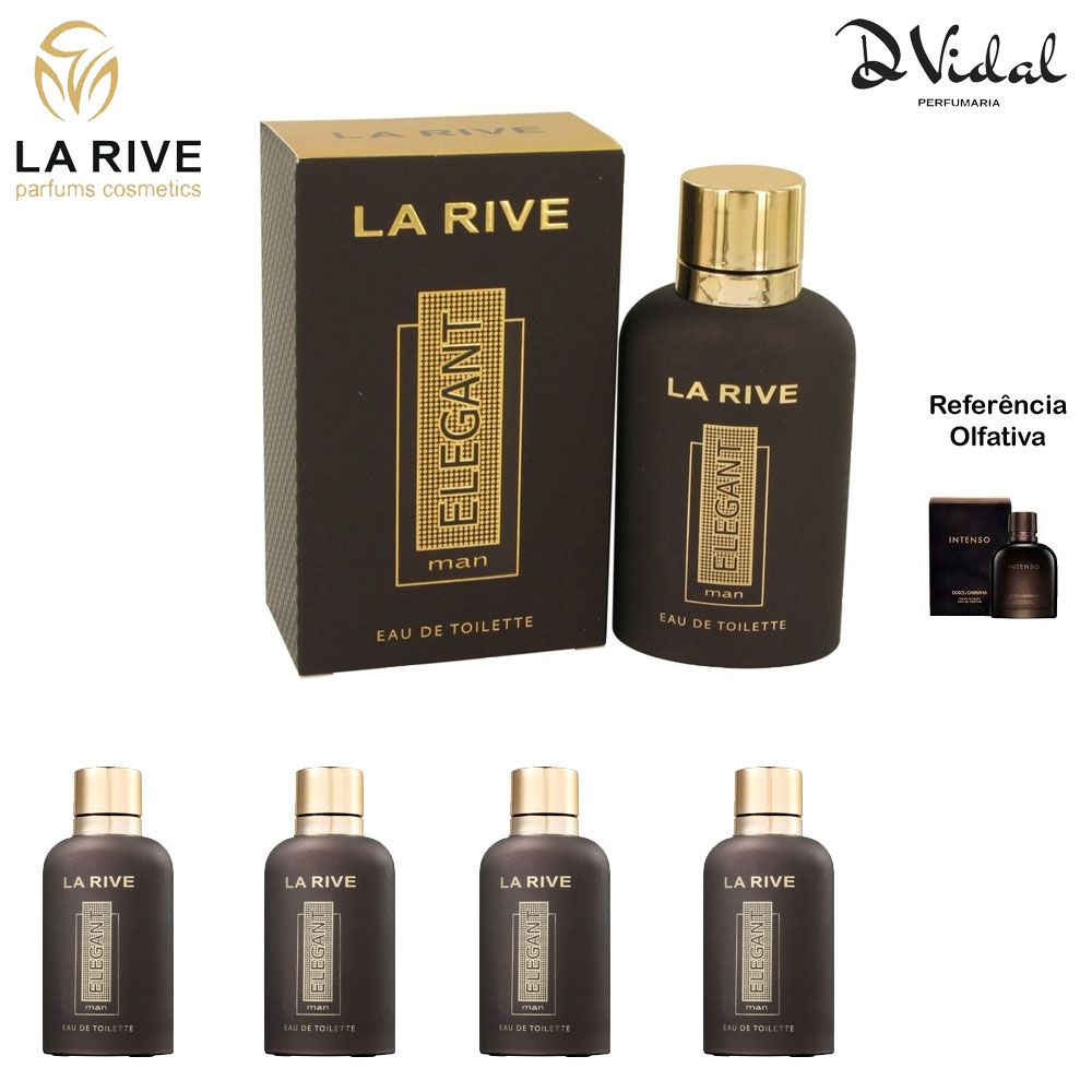 Combo 04 Perfumes - La Rive Elegant Man Eau de Toilette - Perfume Masculino 90ml