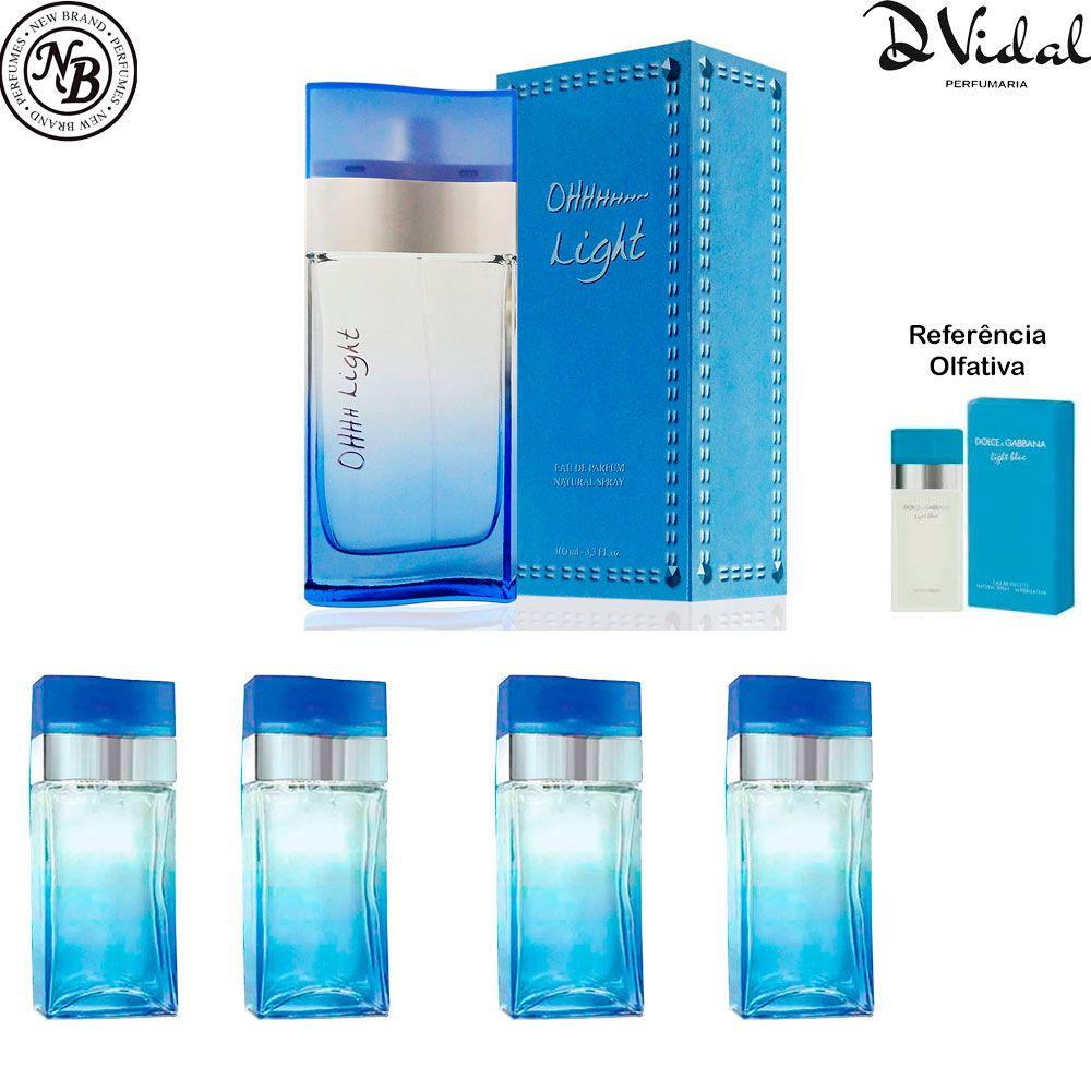 Combo 04 Perfumes - Oh Light Eau de Parfum New Brand - Perfume Feminino 100ml