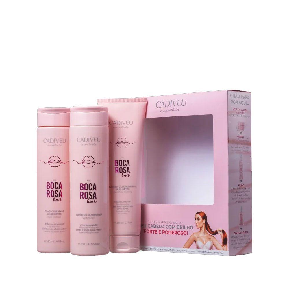 kit Boca Rosa Cadiveu shampoo + Condicionador + Proteína