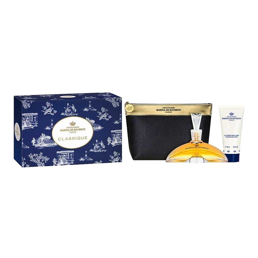 Kit Coffret Classique Marina de Bourbon Feminino - Eau de Parfum 100ml + Loção Corporal 150ml + Nécessaire