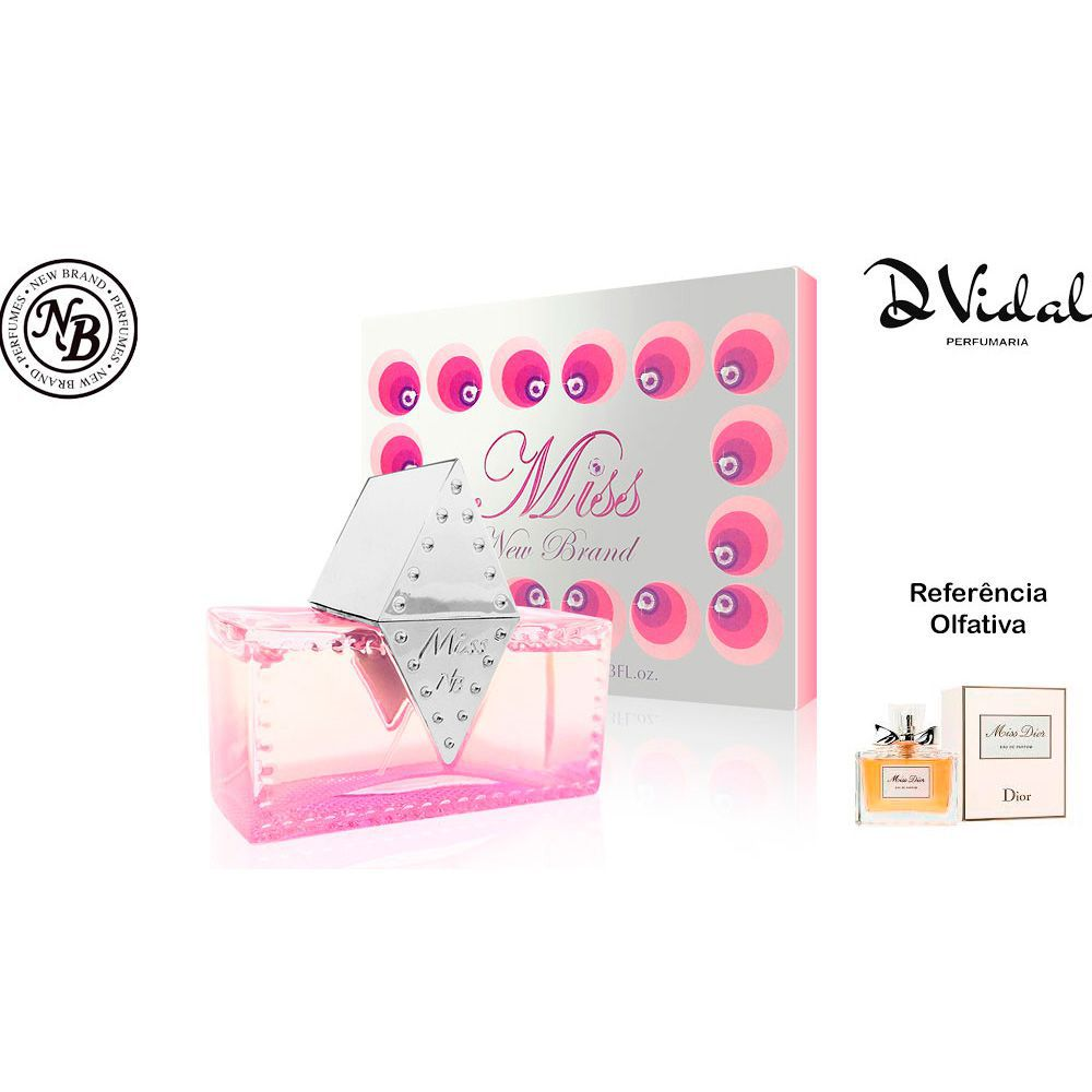 Miss For Women - Eau de Parfum New Brand - Perfume Feminino 100ml