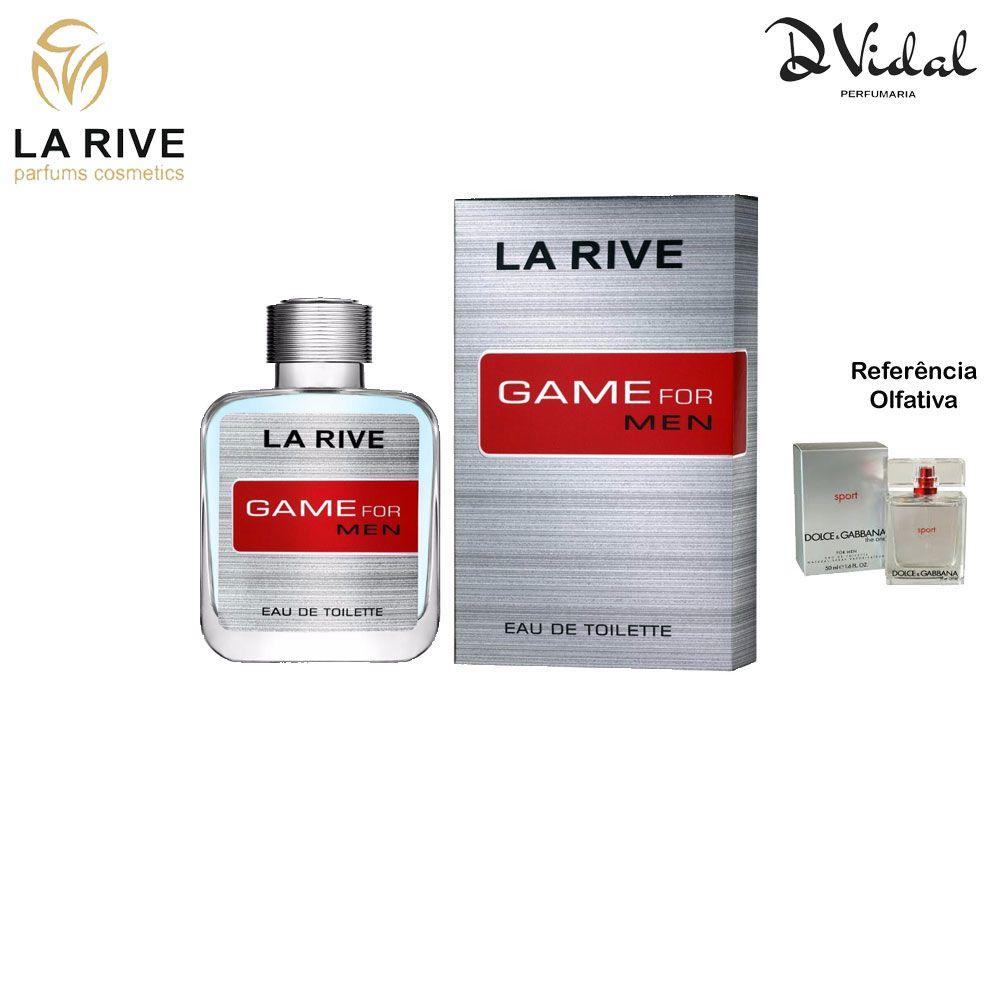 Game For Men - La Rive Eau de Toilette - Perfume Masculino 100ml
