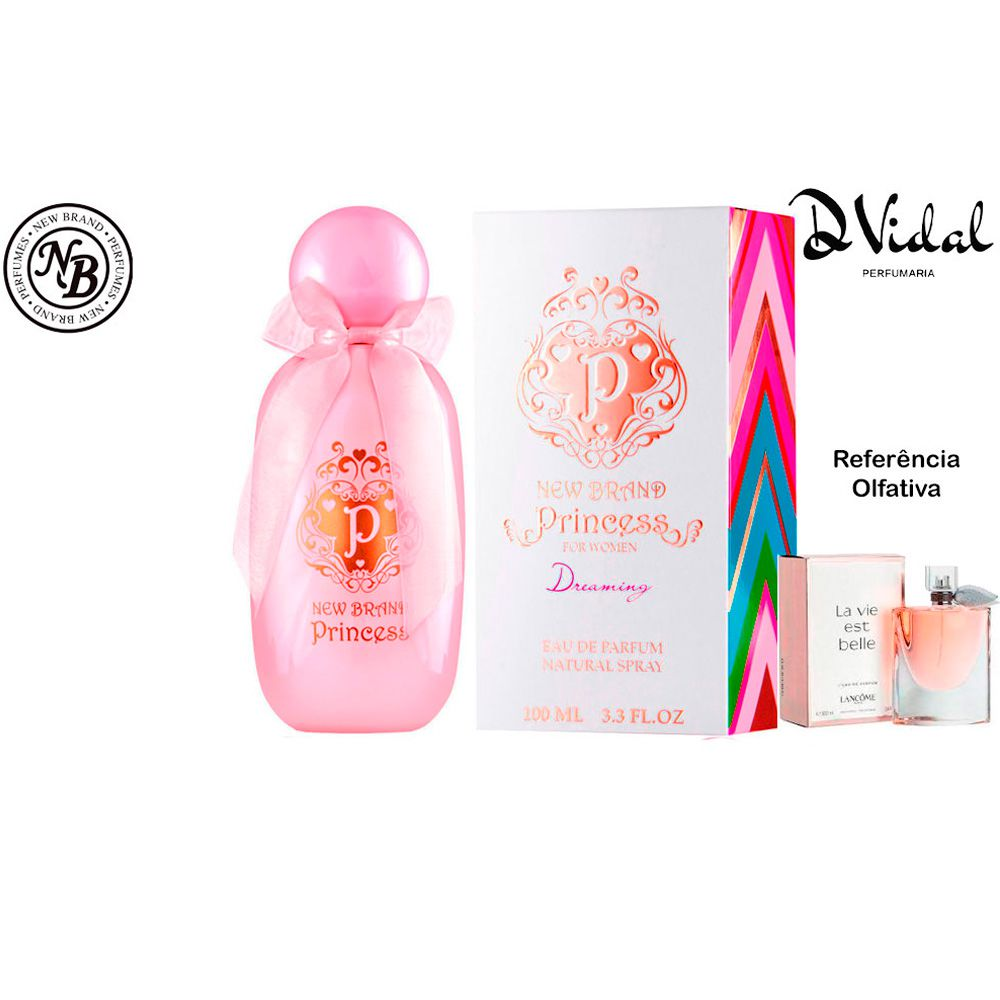 Princess Dreaming - New Brand Eau de Parfum - Perfume feminino 100ml