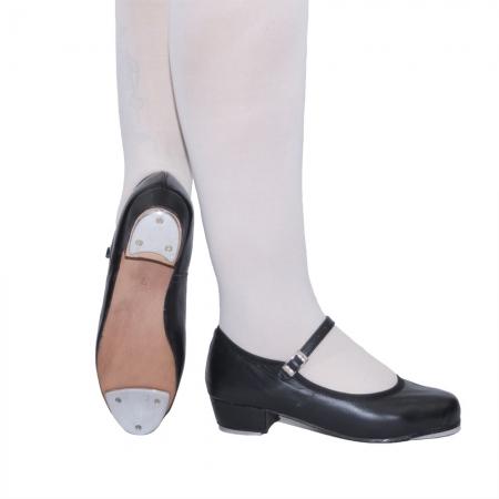 Sapato de sapateado com fivela - Couro com plaquinha