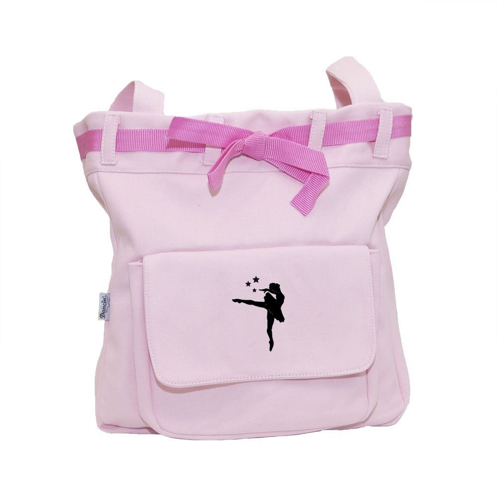 Bolsa com cinto passador estampa de bailarina - Lona
