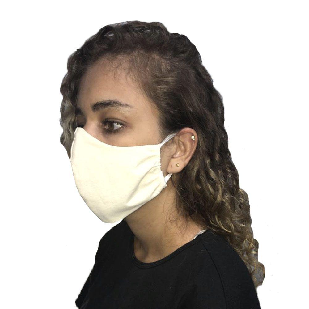 Máscara em Tecido Algodão Lavável Unisex Reutilizável 50un