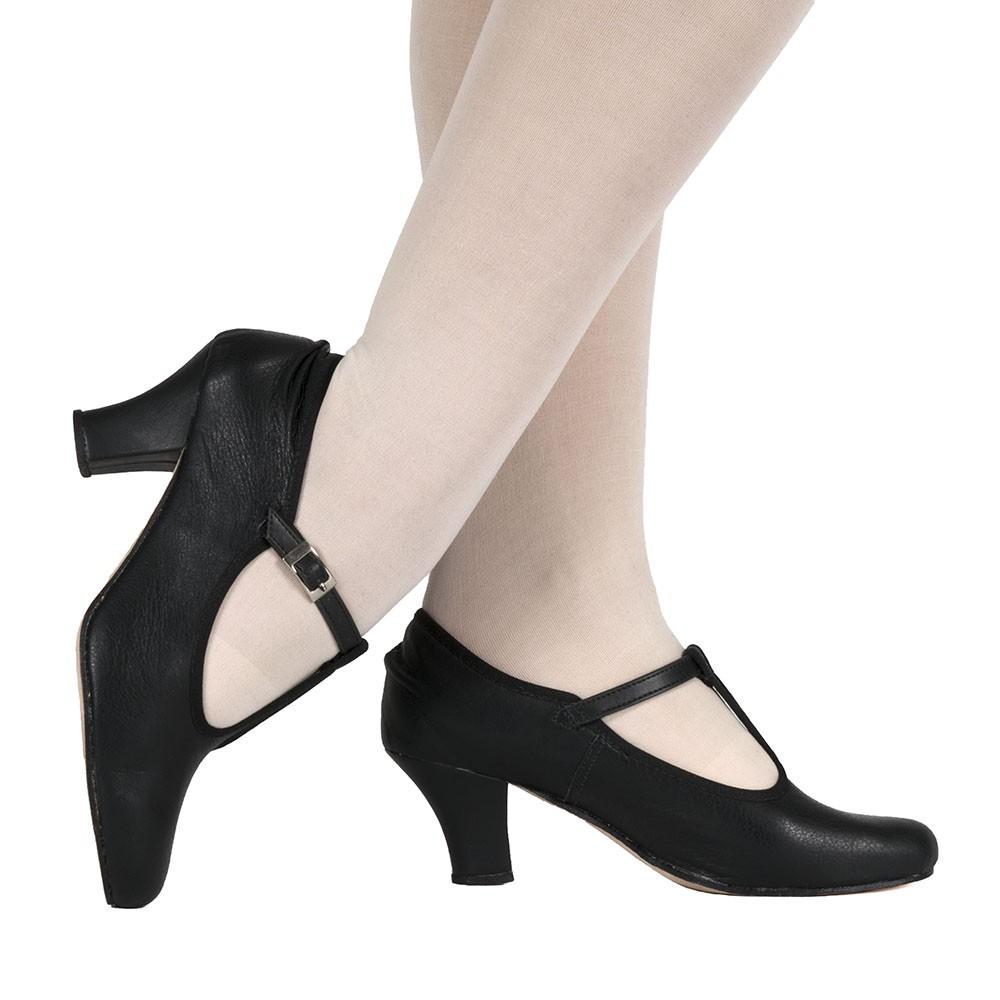 Sapato Chorus line Salto 7 cm Tira no colo do pé - Couro