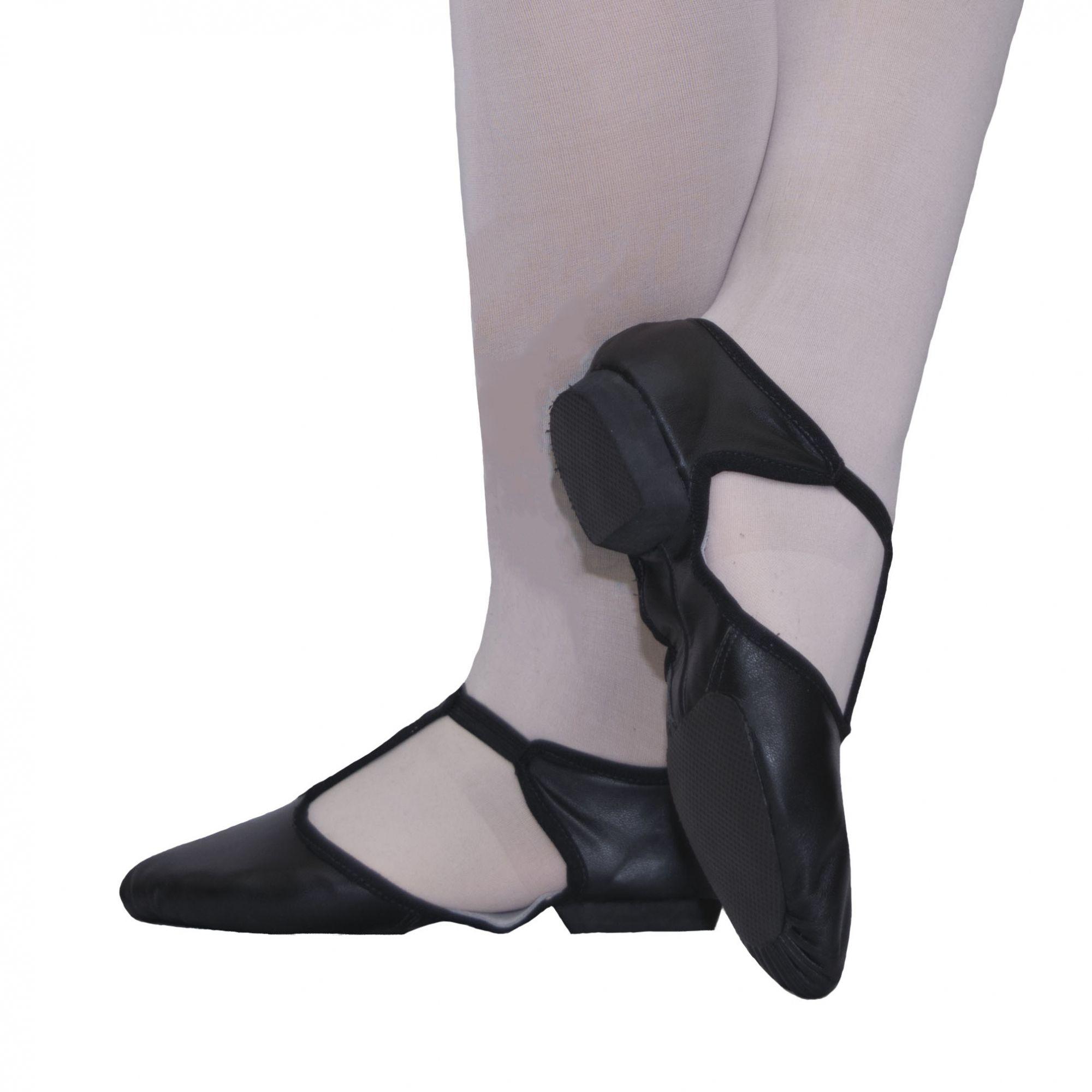 Sapato Professor sola dividida - Couro