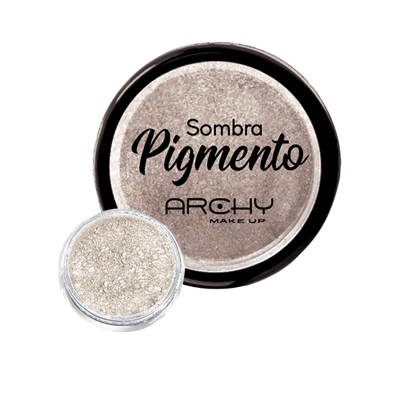 Sombra Pigmento Branco Nº 06 Archy Make Up