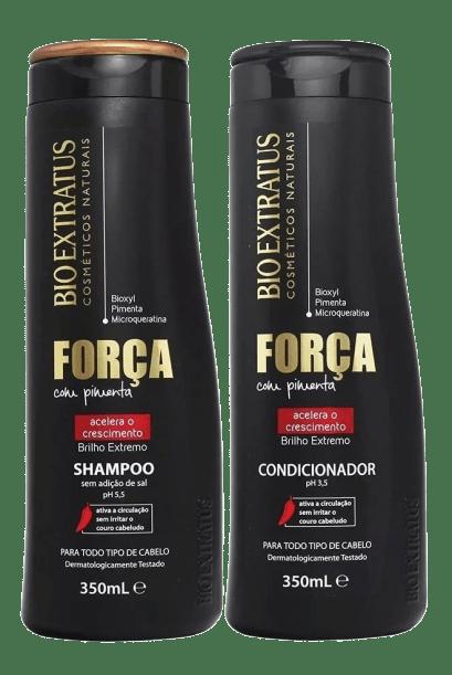 Kit Bio Extratus  Shampoo e Condicionador Força com Pimenta 350 ml