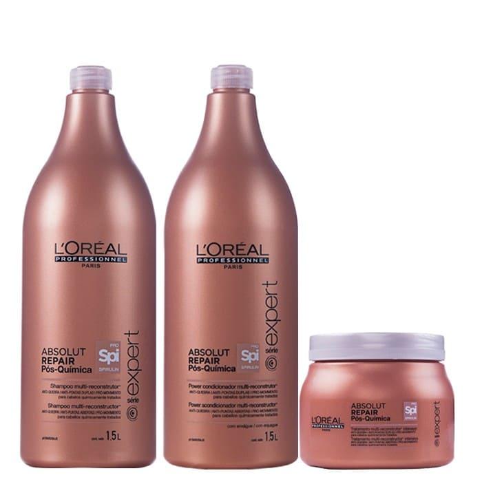 Kit L'Oréal Professionnel Pós Química Absolut Repair TRIO