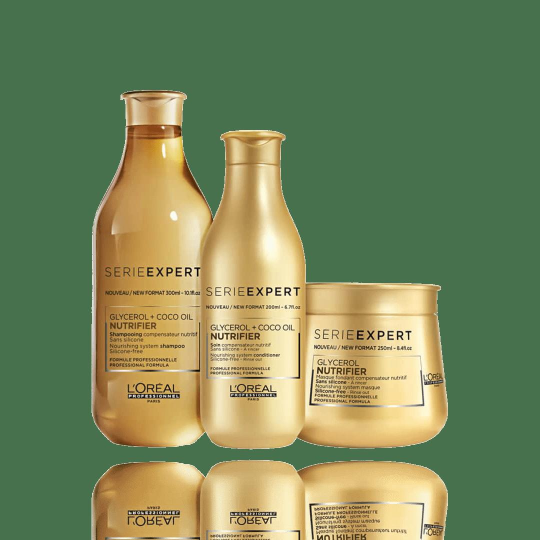 Kit L'oreal Profissional Nutrifier Glycerol + Óleo de Coco TRIO