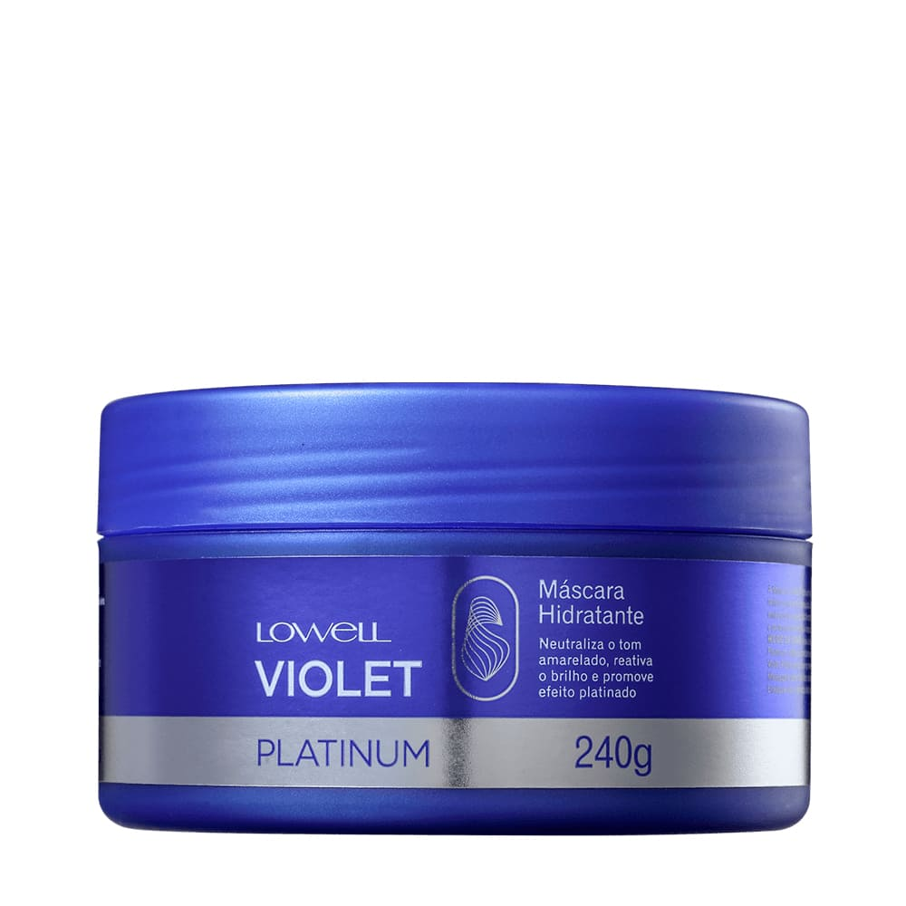Kit Lowell  Matizador  Violet Platinum  Shampoo e Mascara