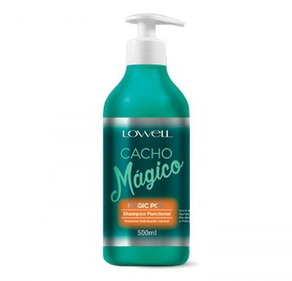 Lowell Cacho mágico Magic Poo shampoo funcional 500 ml