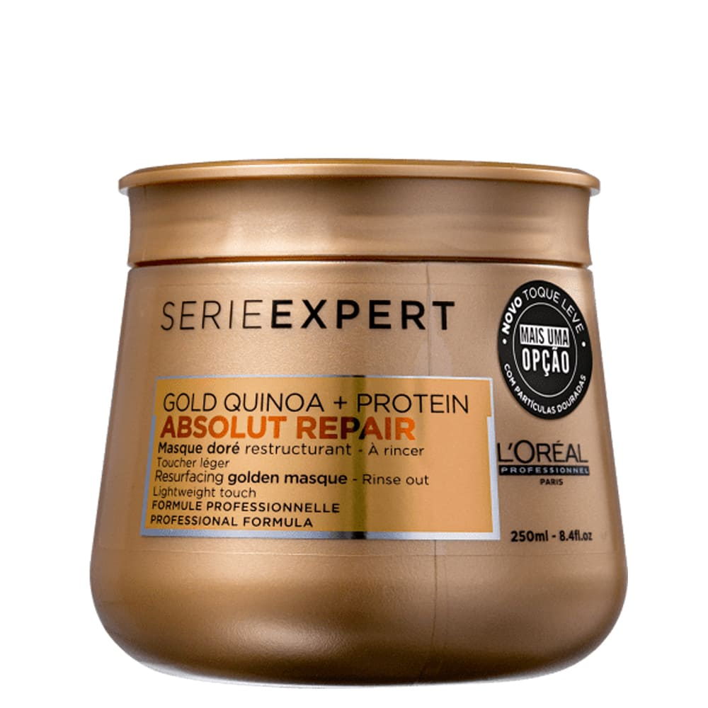 Máscara L'oreal Professionnel Gold Quinoa + Protein Golden Lightweight 250g