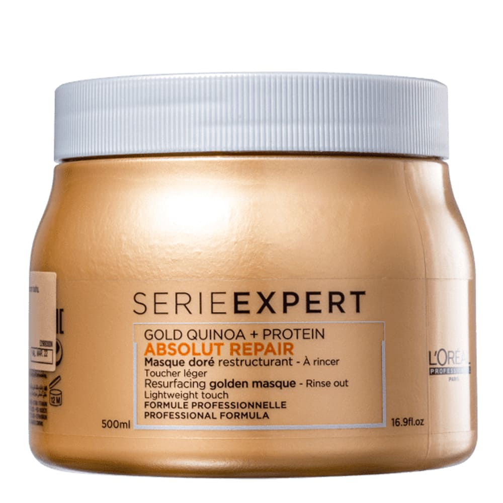 Máscara L'oreal Professionnel Gold Quinoa + Protein Golden Lightweight 500g