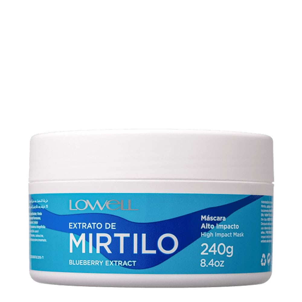 Máscara Lowell Extrato de Mirtilo 240g